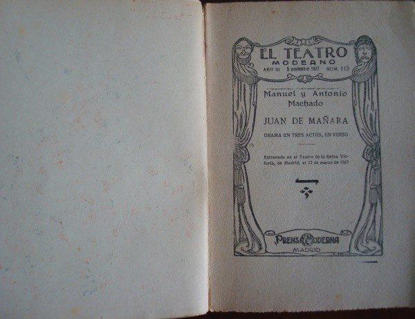 1927 Manuel y Antonio Machado, Juan de Mañara