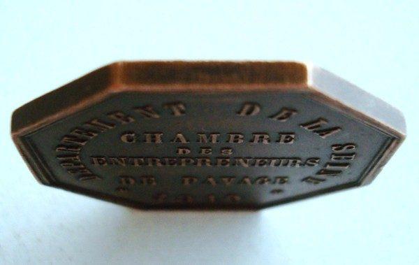 1810 Medalla francesa -Pavage-, en bronce, tipo maestra