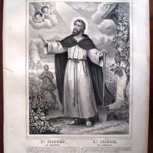 San Isidro Labrador, s. XIX, por Napoleon Thomas