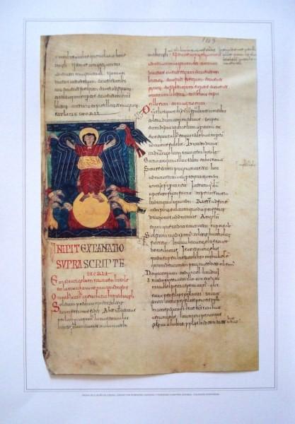Hojas del Beato de Liébana códice de El Escorial, s. X