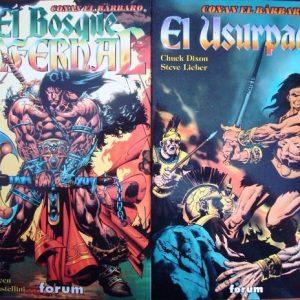 Conan el Bárbaro: El bosque infernal y El usurpador (novelas gráficas)