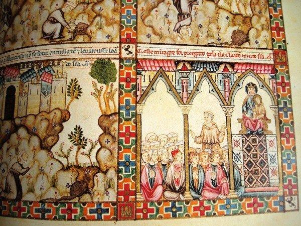 Cantigas de Santa María de Alfonso X el Sabio, códice rico de El Escorial, s. XIII
