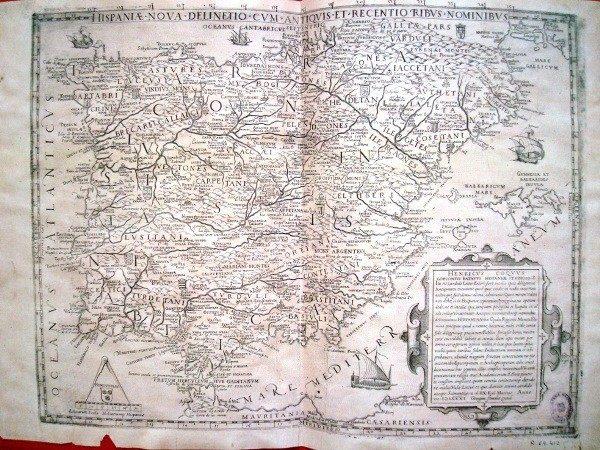 La España nuevamente delineada con sus nombres antiguos y modernos, 1583, Enrique Cock
