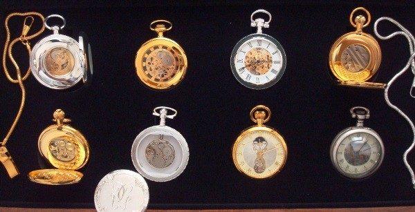 Colección Relojes de Época: 8 relojes de bolsillo bañados en oro y plata