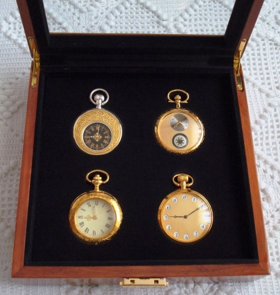 Colección Rarezas de Época: 4 relojes de bolsillo bañados en oro