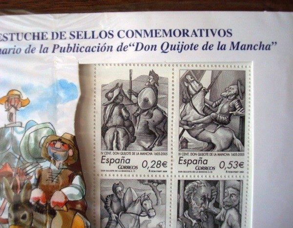 2005 Sellos de Correos IV Centenario de Don Quijote, ilustrados por Mingote