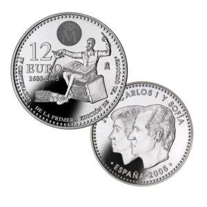 Moneda de plata 12 € España, en cápsula, 2005