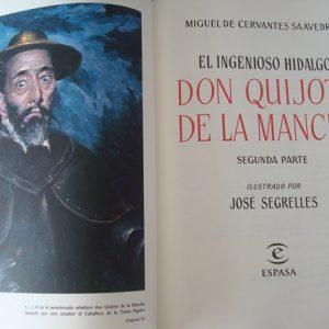 1997 Don Quijote de La Mancha, Cervantes, ilustrado por Segrelles, 2 tomos