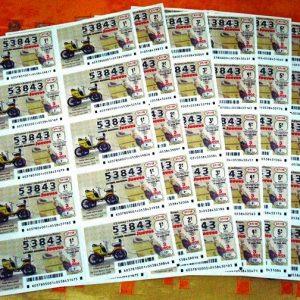 Lotería Nacional Jueves. Número 53843 completo