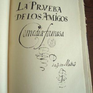 La prueba de los amigos, comedia famosa, de Lope de Vega, 1604