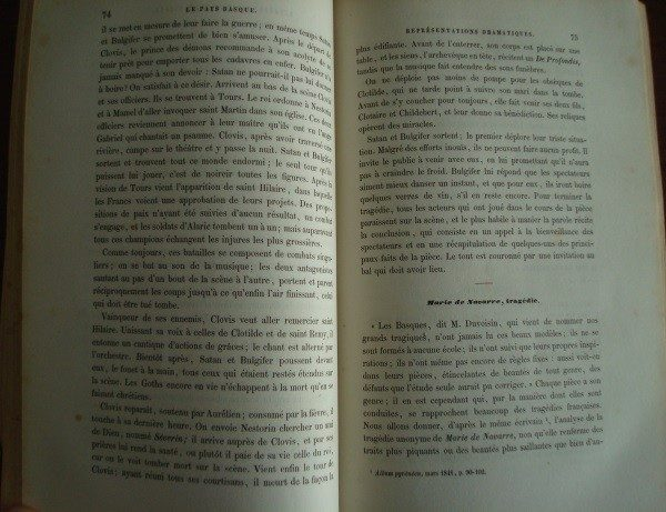 1857 Le Pays Basque, por Francisque-Michel, original, en francés, primera edición