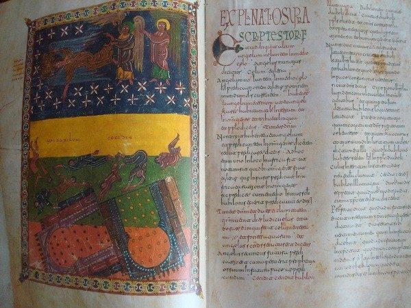 Beato de Liébana códice de San Miguel de Escalada, s. X, 2 tomos