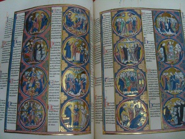 Biblia de San Luis, s. XIII, joya de las Biblias Moralizadas
