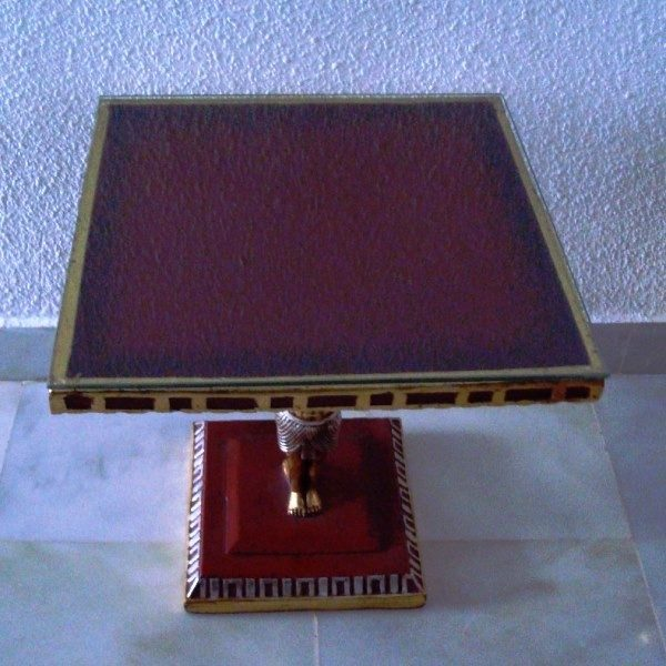 Mesa rinconera artesanal Antiguo Egipto