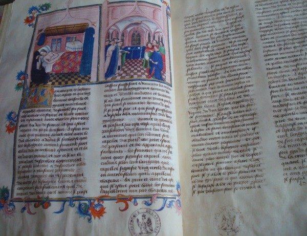 El Decamerón de Boccaccio, c. 1445, francés *****