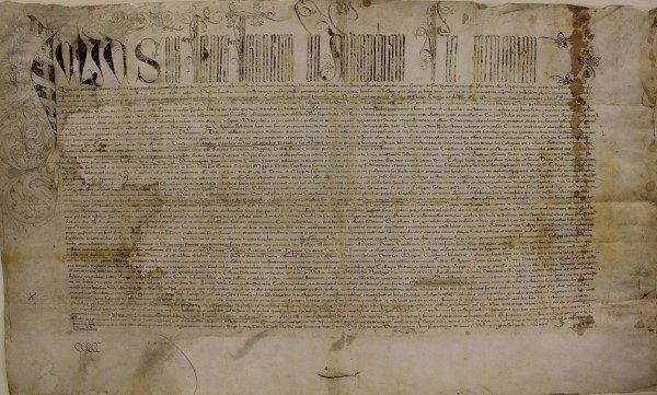 Bula Fundacional de la Universidad de Sevilla, año 1505