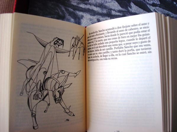 El Quijote, 2 tomos, edición conmemorativa de lujo en miniatura, Il. Ciro Oduber