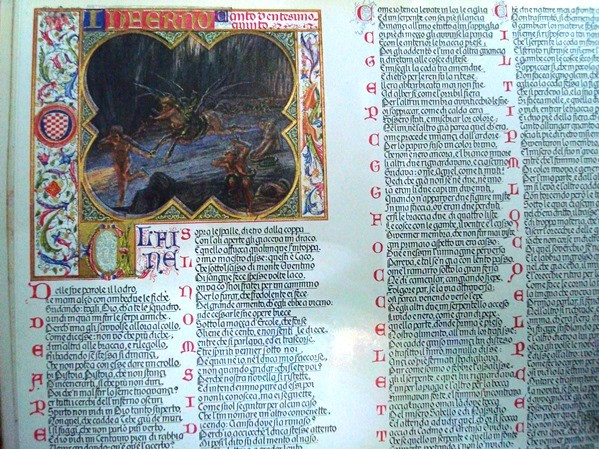 1902 La Divina Commedia, Dante Alighiere, símil códice