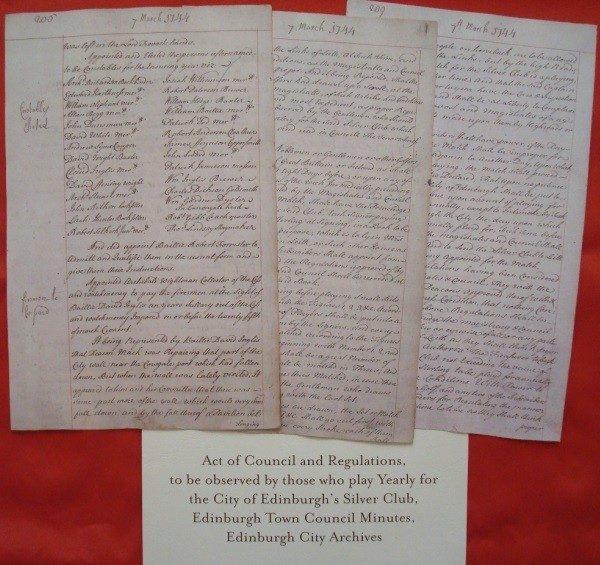 Los Documentos Clave de la Historia del Golf 1457-1744
