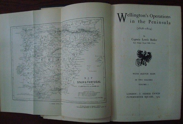 1904 Wellington's operations in the Peninsula (1808-1814), by Captain Lewis Butler