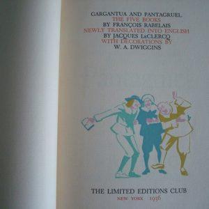 Gargantua and Pantagruel, Rabelais, NY 1936 (en inglés)