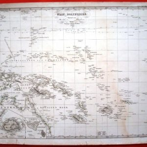 1858 Mapa de la Polinesia, por Hermann Berghaus