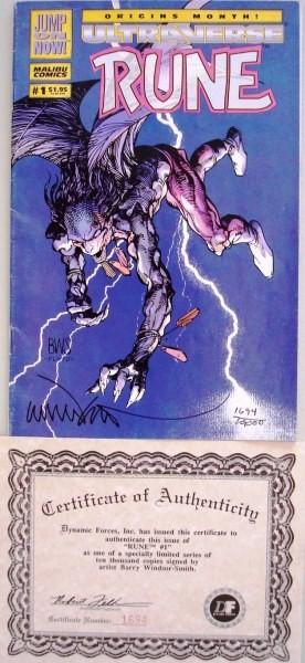Rune: Vol 1 Num 1, enero 1994, USA, limited