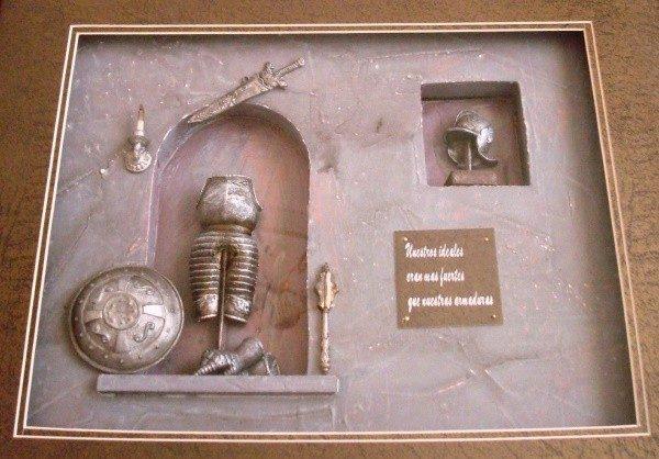 Cuadro temática caballeresca medieval en 3D