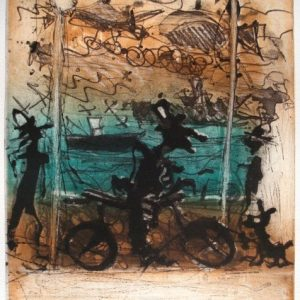 Christian Bozon, La Malagueta, 1998 grabado original