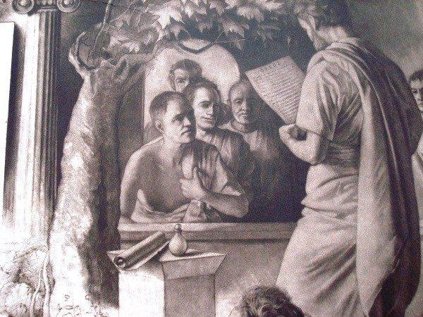 Hermógenes Pardos, Juramento Hipocrático, grabado original