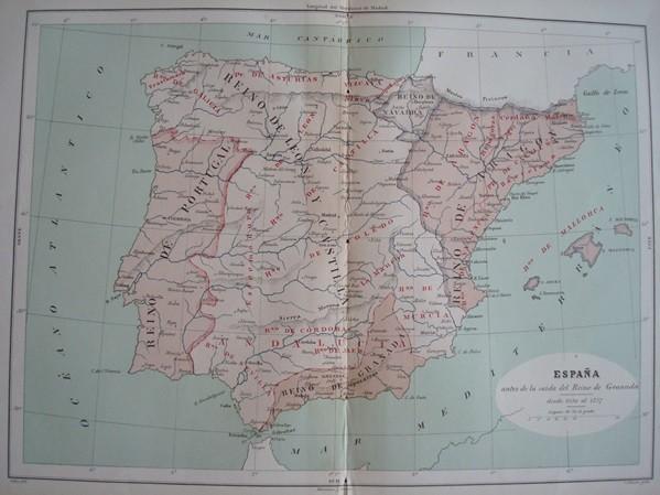 1877 Mapa de España 1030-1257