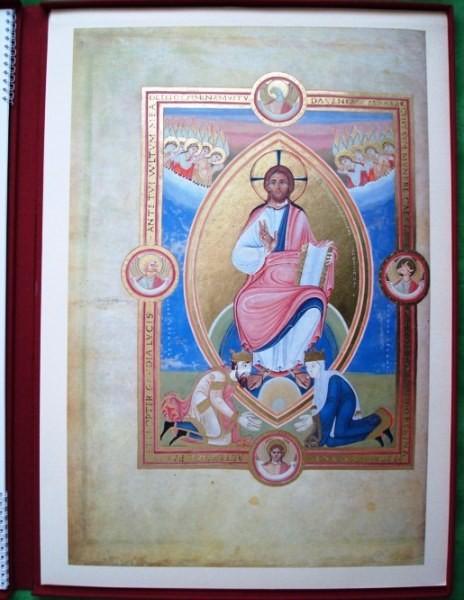 Hojas del Codex Aureus Escurialensis, s. XI
