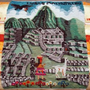 Tapiz peruano artesanal Machu Pichu