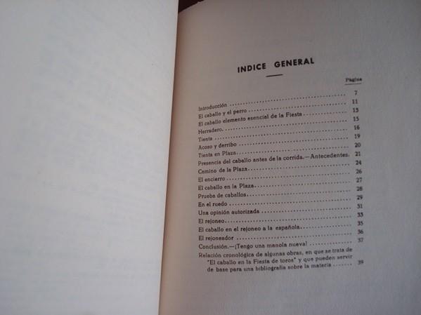 1958 Conde de Colombí, El caballo en la fiesta de toros