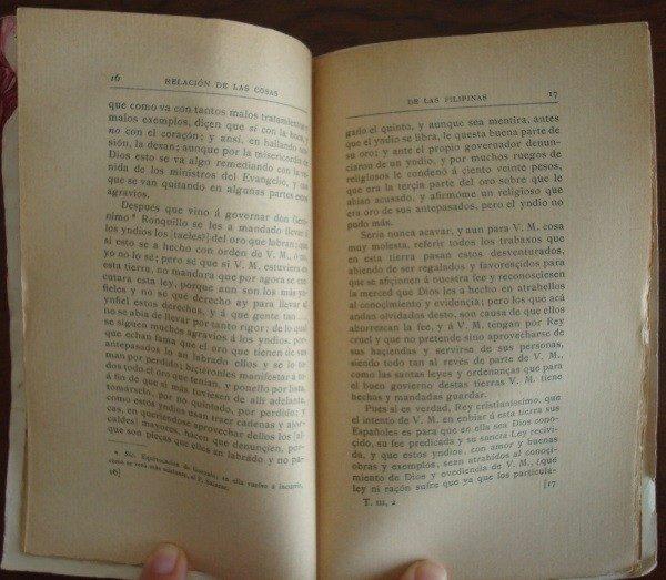 1897 Fray Domingo de Salazar, Relación de las cosas de Las Filipinas