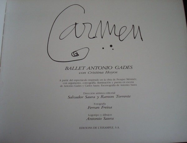 1985 Carmen: Ballet Antonio Gades con Cristina Hoyos