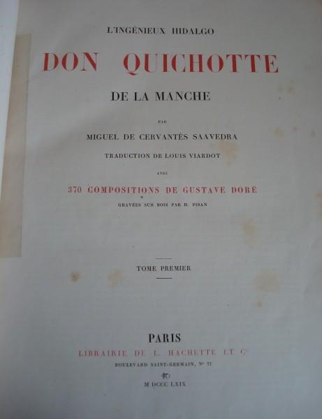 1869 L'Ingénieux Hidalgo Don Quichotte de la Manche (en francés)
