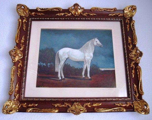 F. R. Yáñez, Caballo blanco, óleo sobre lienzo, 1987