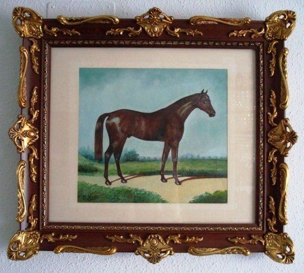 F. R. Yáñez, Caballo, óleo sobre lienzo, 1987