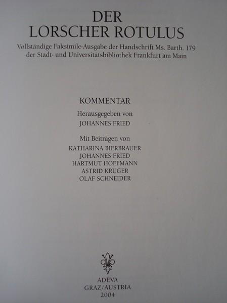 Der Lorscher Rotulus, 1994
