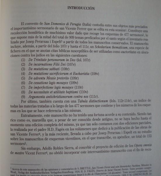 Sermonario de Perugia de San Vicente Ferrer, siglos XIV y XV