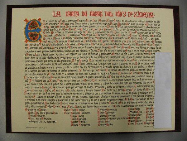 Carta de Arras del Cid, s. XI