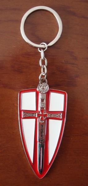 Llavero escudo templario