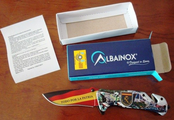 Navaja Albainox Guardia Civil, sistema FOS, impresión 3D