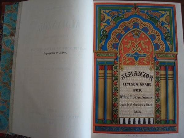 1858 Leyendas históricas árabes, Francisco Javier Simonet
