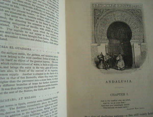 1836 The Tourist in Spain. Andalusia. By Thomas Roscoe. Il. David Roberts