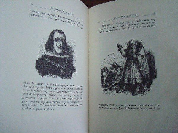 Visita de los chistes, Quevedo, con grabados de Jorge Perellón
