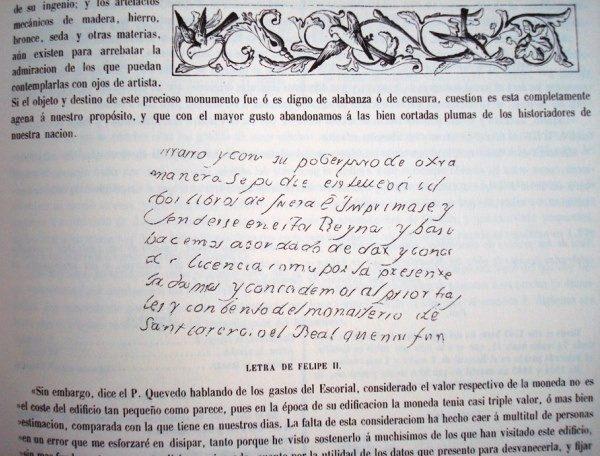 Historia del Monasterio del Escorial, Antonio Rotondo, 1862