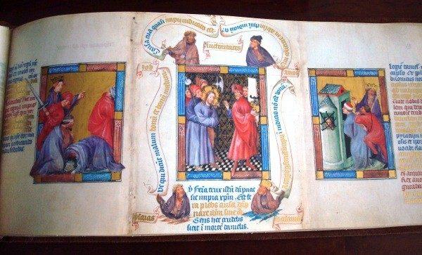 Biblia de La Haya (Biblia Pauperum), c. 1405