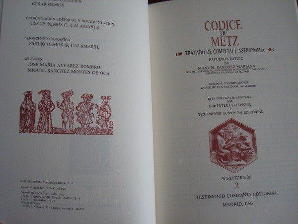 Códice de Metz, s. IX